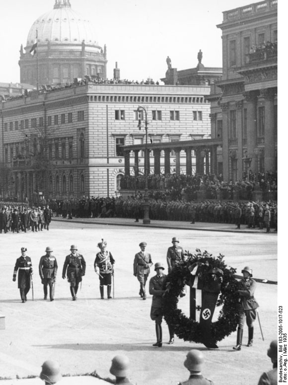 """Heroes' Remembrance Day"" in Berlin (March 17, 1935)"