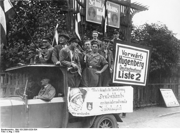 The German National People's Party Campaigns in Berlin-Neukölln with an Anti-Semitic Poster (August-September 1930)
