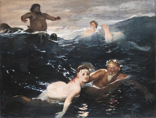 Arnold Böcklin, Dalgalar Oyun </ i> [<i> Im Spiel der Wellen </ i>] (1883) yılında <i>