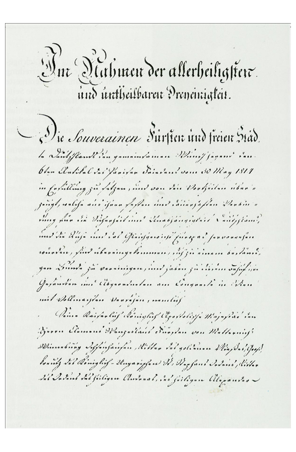 German Federal Act (June 8, 1815)