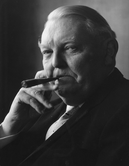 Federal Chancellor Ludwig Erhard with Cigar (undated photo)