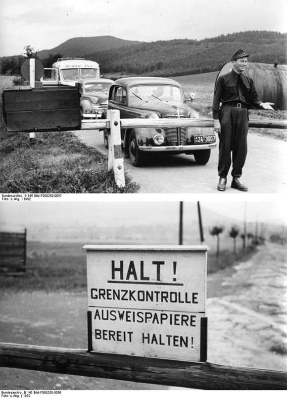 Inner-German Border near Heldra (Hesse) (1952)