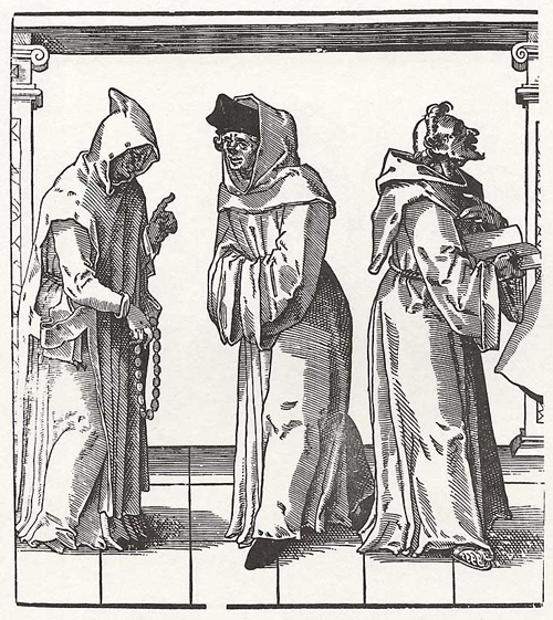 Church Hierarchy: Three Monks (2nd Half of the 16th Century)