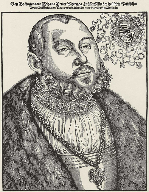 "Elector John Frederick I of Saxony, called ""the Magnanimous"" (c. 1533)"