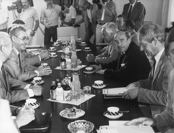 Meeting of the Transportation Ministers of the GDR and the Federal Republic in Bonn (July 9, 1984)