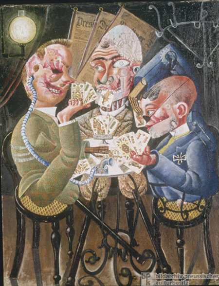 Otto Dix, <i>The Skat Players</i> (1920)