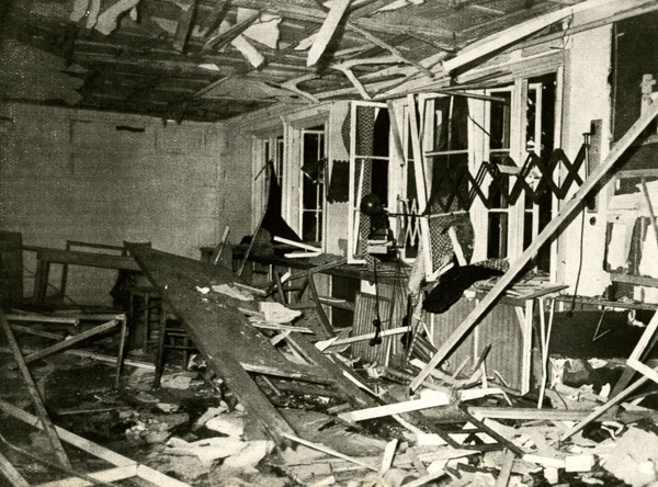 "The Conference Room at the ""Wolf's Lair"" after the Assassination Attempt (July 20, 1944)"