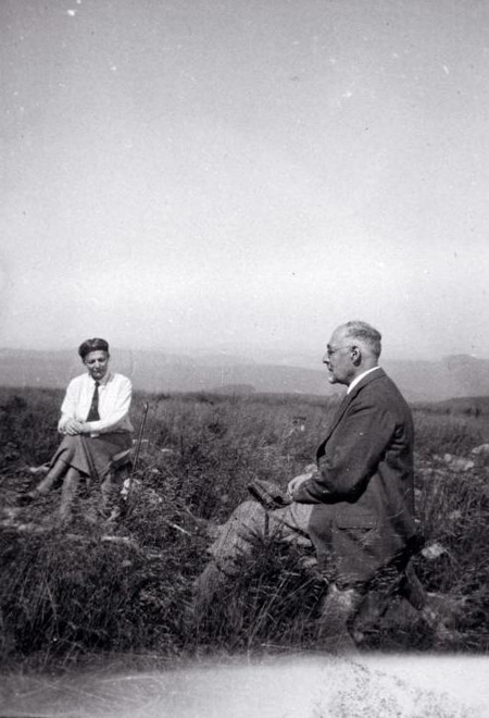 Leo Baeck with his Wife Natalie on Vacation in the Ore Mountains [<I>Erzgebirge</i>] (1930)