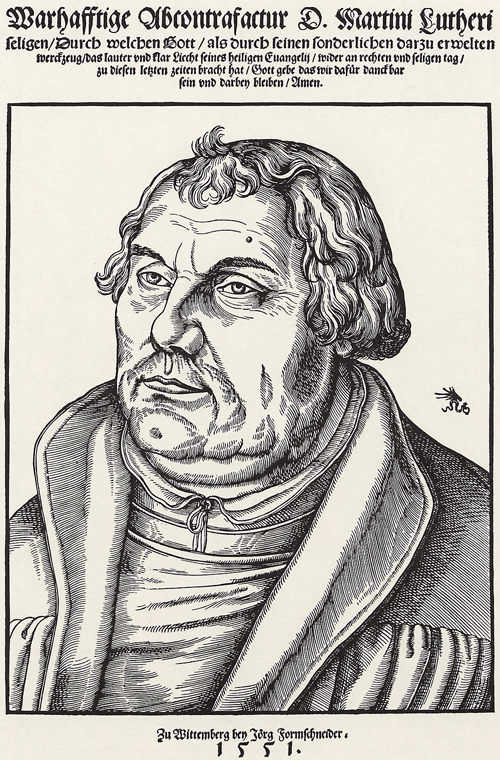 Portrait of Luther as an Old Man (1551)