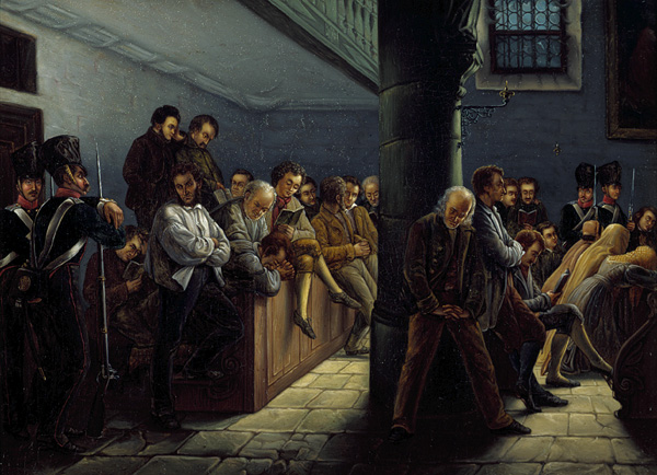 Inmates in the Prison Church (1837)