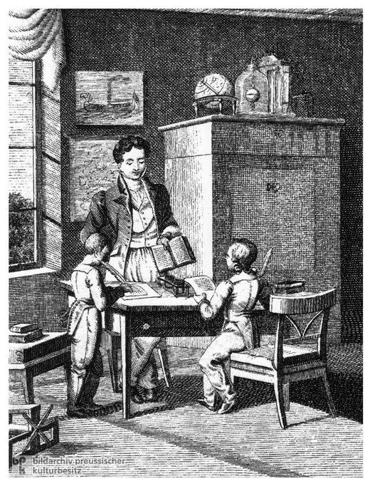 Tutoring for Bourgeois Children during the Biedermeier Era (c. 1820)