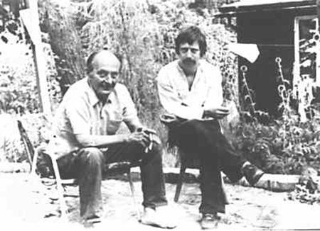 Wolf Biermann and Robert Havemann in Grünheide (early 1970s)