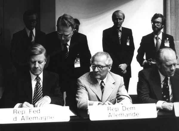 Signing the Final Act (Helsinki Accords) of the Conference on Security and Cooperation in Europe (CSCE) (August 1, 1975)