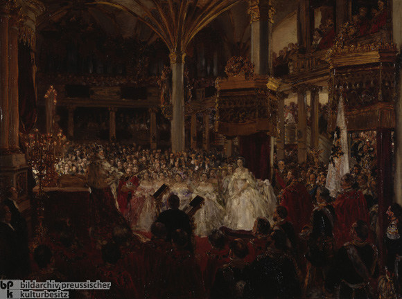 Adolf Menzel, <I>Coronation of Wilhelm I in Königsberg in the Year 1861</i> (1861)