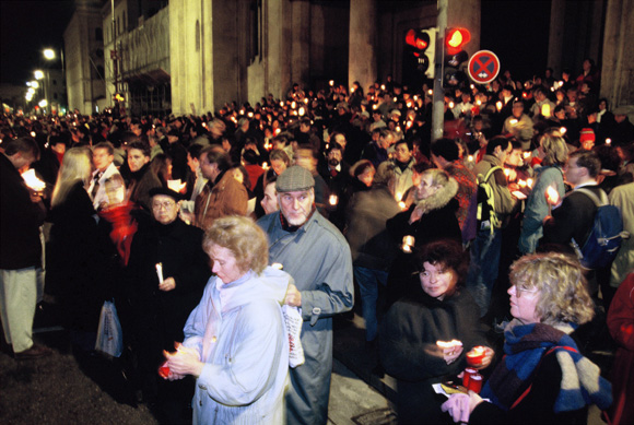 Candlelight Vigil against Xenophobia (February 1, 1993)