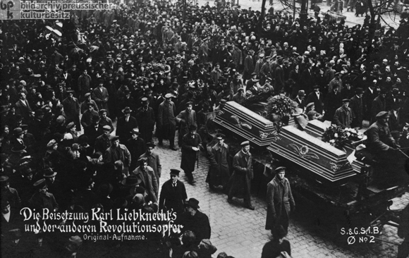 The Burial of Karl Liebknecht and other Murdered Revolutionaries (January 25, 1919)