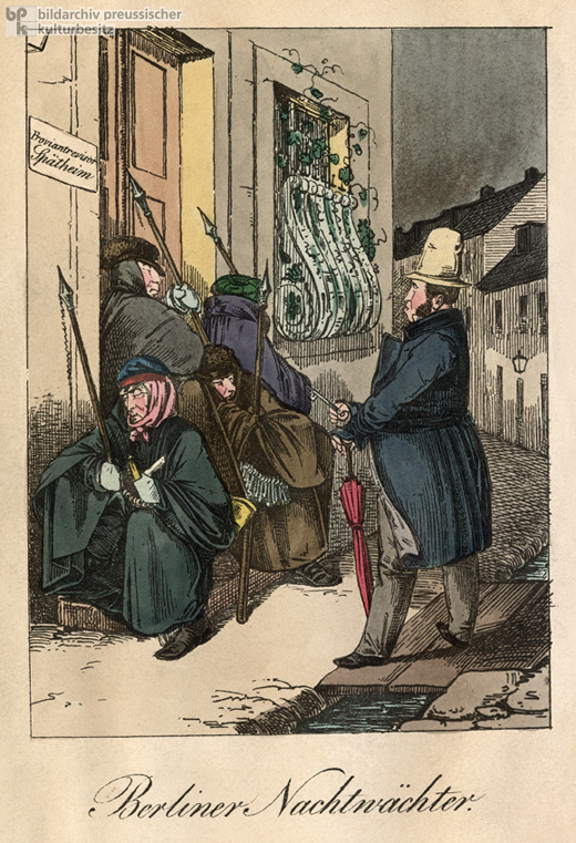 Night Watchmen in Berlin (c. 1840)