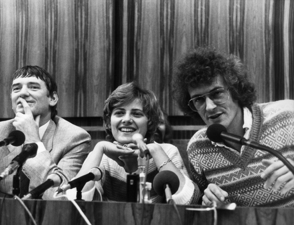 Press Conference by Otto Schily, Petra Kelly, and Reiner Trampert (March 7, 1983)