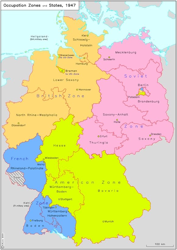 GHDI Map - Germany map zones