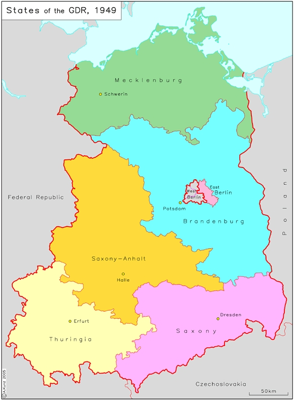 states lnder of the german democratic republic