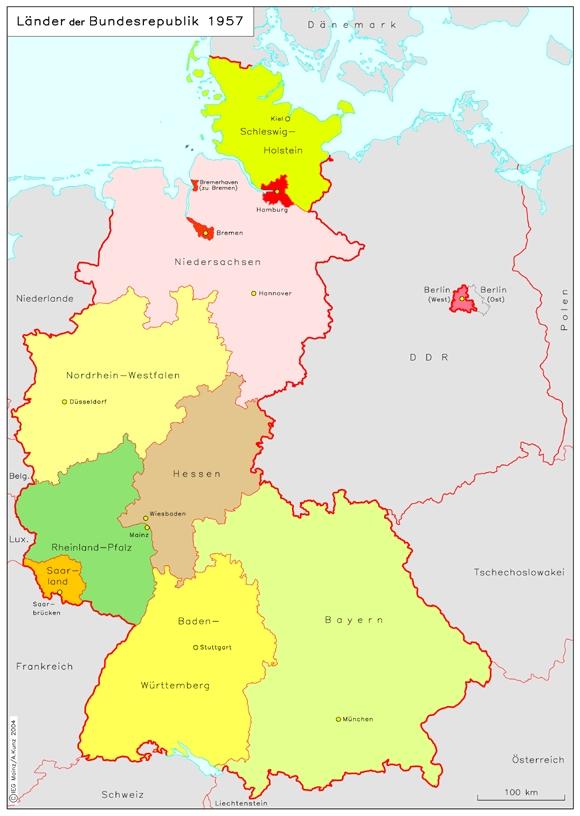 Deutschlandkarte Karte Der Bundesrepublik Deutschland Bild