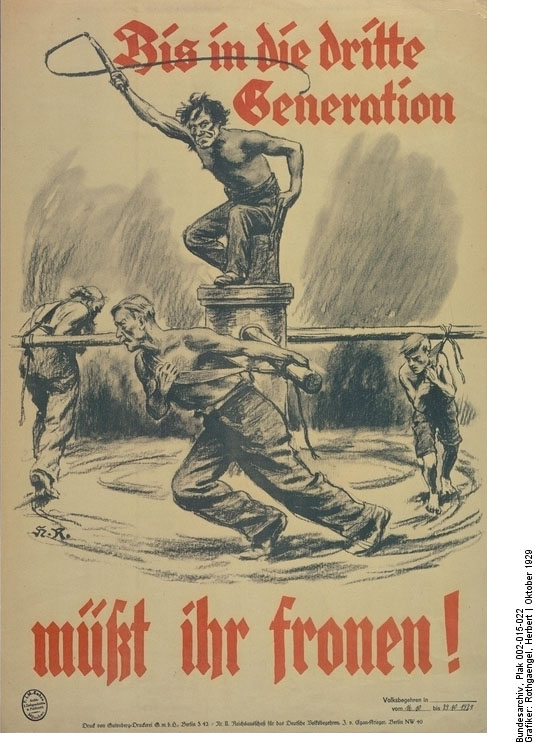 Anti Young Plan Poster by the Reich Committee for a German Referendum (September 1929)