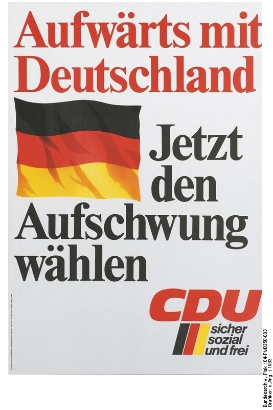 "CDU Poster for Bundestag Elections: ""Upwards with Germany"" (1983)"