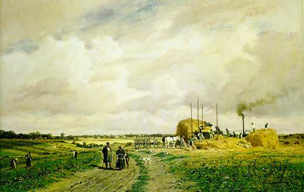 Introduction of Mechanized Threshing in the Countryside (1882)