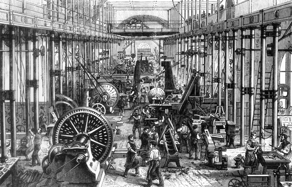 Machine Room in Richard Hartmann's Chemnitz Factory (1868)