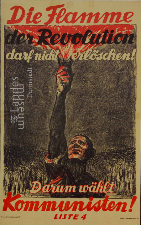 Communist Party of Germany (KPD) Election Poster (1924)