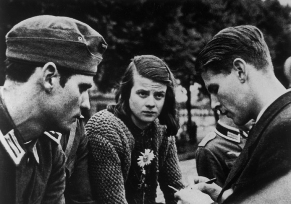 "Siblings Hans and Sophie Scholl and Christoph Probst (left to right) of the Student Resistance Group ""White Rose"" (1942)"