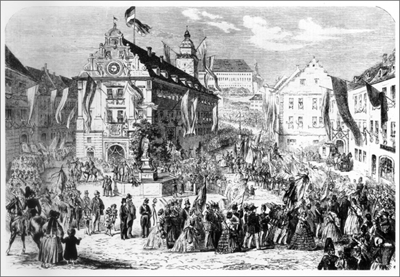 The First German Rifle Club Festival in Gotha (1861)