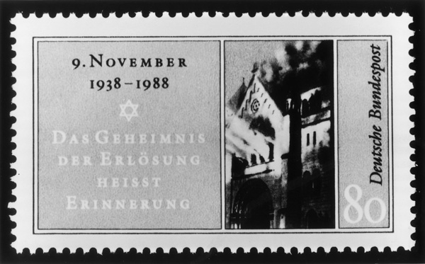 Stamp Commemorating <I>Kristallnacht</i> (1988)