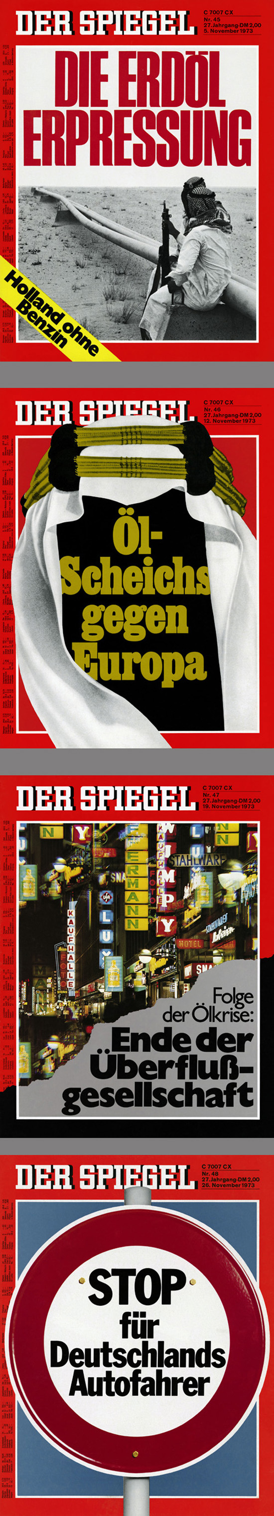 <i>Spiegel</i> Covers on the Oil Crisis (November 1973)