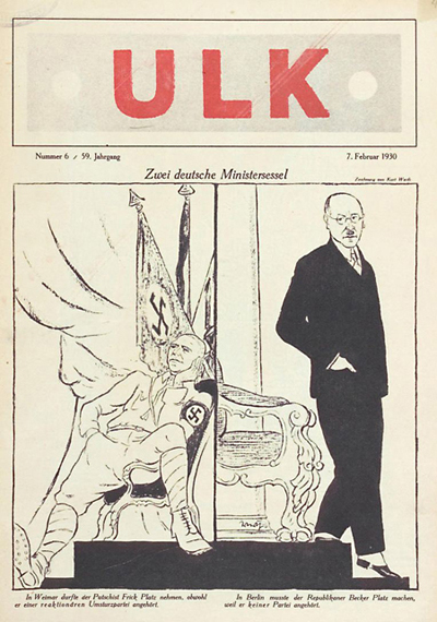 Wilhelm Frick: Cover of <I>Ulk</i> (February 7, 1930)