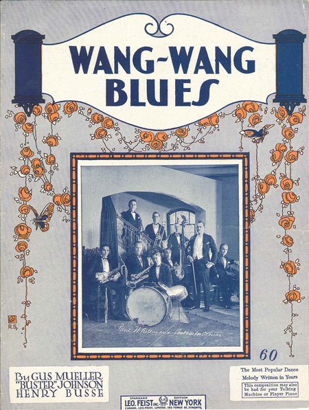Cover of the Sheet Music for <I>Wang Wang Blues</i> by Paul Whiteman and his Orchestra (1926)