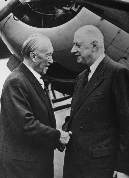 """Friendship is More Important than Protocol"": Charles de Gaulle Greets Konrad Adenauer (September 27, 1963)"