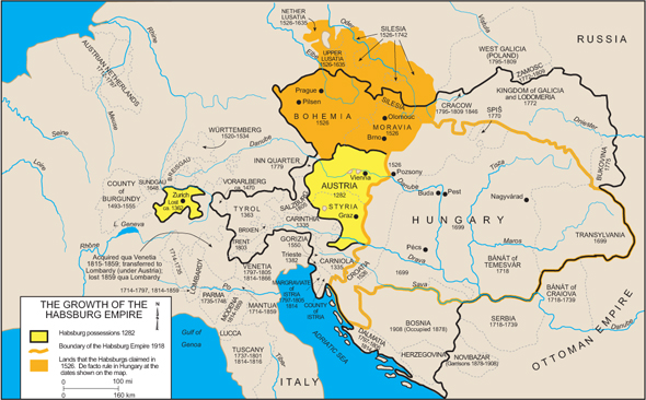 The Growth of the Habsburg Empire