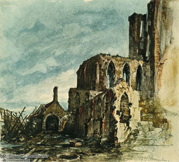 Hitler's Watercolor of Ruins (1919)