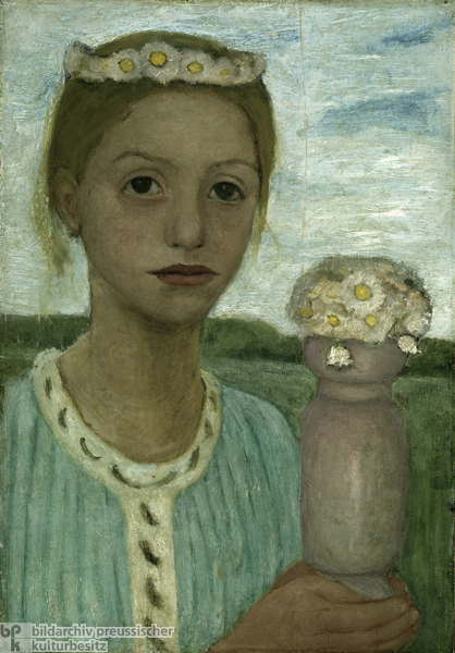 Paula Modersohn-Becker, <i>Girl with a Wreath of Flowers</i> (1902-03)