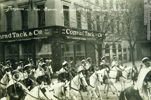 French Cavalry in the Streets of Mainz (April 23, 1919)