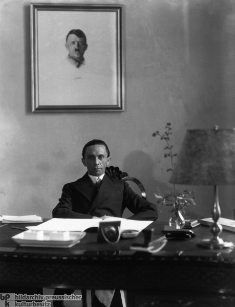 Joseph Goebbels at his Desk (March 1, 1933)