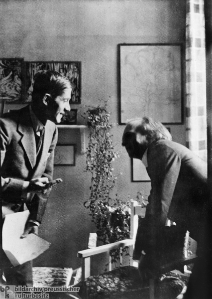 Oskar Kokoschka and Herwarth Walden in the Design Room of <I>Der Sturm</I> (1916)