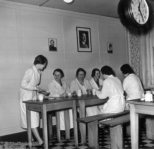 Female Factory Workers during their Lunch Break (1938)