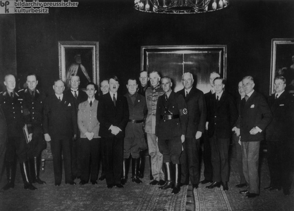 Reich Chancellor Adolf Hitler with his Cabinet (January 30, 1933)
