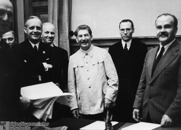 Signing of the German-Soviet Non-Aggression Treaty (August 23, 1939)