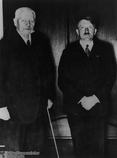 Reich President Paul von Hindenburg Receives Adolf Hitler after the Latter's Appointment as Reich Chancellor (January 30, 1933)