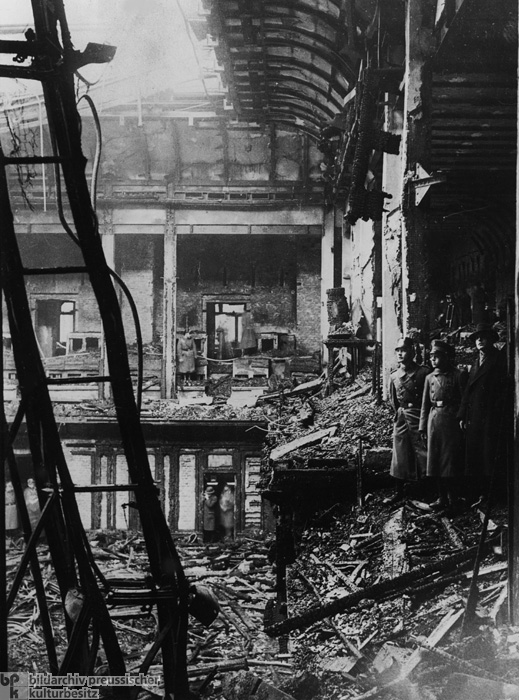 The Reichstag Fire: View of the Destroyed Plenary Hall (February 28, 1933)