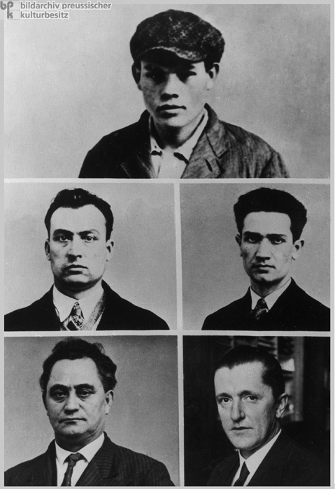 The Accused in the Reichstag Arson Trial (September 1, 1933)