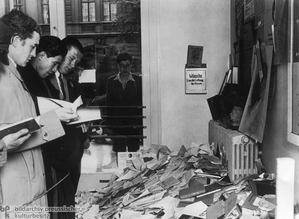 "Institute for Sexual Research in Berlin: ""Un-German"" and ""Unnatural"" Literature is Sorted Out for the Book-Burning Ceremony (undated photo, May 6-10, 1933)"